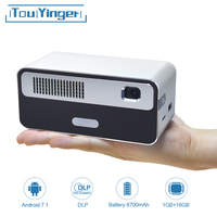 Touyinger HDP300 250 ANSI Mini LED Portable DLP Projector WiFi Battery HD Android 1080P Bluetooth Pocket Pico Handheld Beamer
