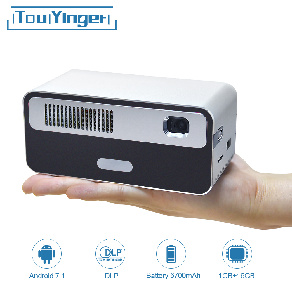 Touyinger HDP300 250 ANSI Mini LED Tragbare DLP Projektor WiFi Batterie HD Android 1080P Bluetooth Tasche Pico Handheld Beamer