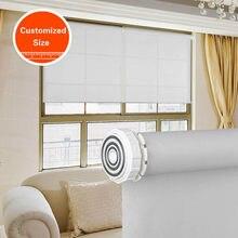 Sunroad tamanho personalizado luz do dia tecido sem broca livre punchtension persianas de rolo fácil instalação alta qualidade