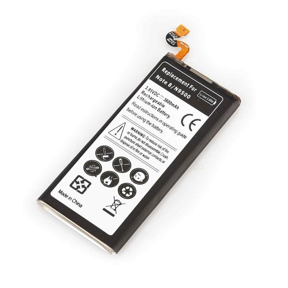 لسامسونج ملاحظة 8 3600mAh استبدال بطارية لأجهزة سامسونج غالاكسي ملاحظة 8 N9500 N950F N950FD N950U N950 EB-BN950ABE الهاتف بطارية