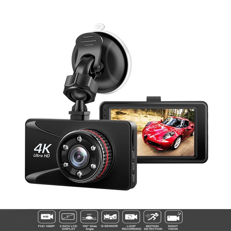 Voiture DVR Camesh Cam 3 ''4 K 1080P Full HD Dash caméra 150 degrés Dash Cam Voiture voitures Vision nocturne g-sensor Voiture caméra enregistreur