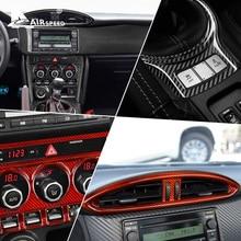 Hard Real Carbon Fiber for Subaru BRZ Toyota 86 2013-2020 Accessories Interior Trim Car Central Control Decoration Cover Sticker