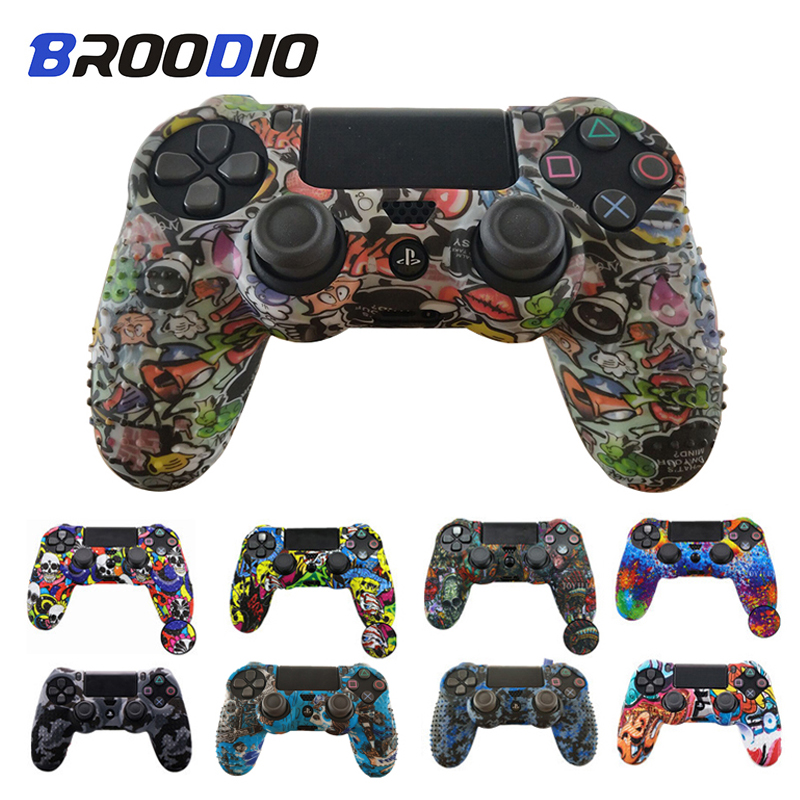 Anti-slip Silicone Case Protective Skin Cover For SONY Playstation 4 PS4 DS4 Pro Slim Gamepad Controller Protection For PS4 Case