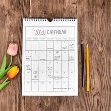 1 шт.,, Простой настенный календарь, органайзер, домашний офис, Подвесной Настенный календарь, ежедневный планировщик,,09~,12