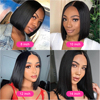 Short Bob Wigs Straight Lace Front Human Hair Wigs For Women Pre Pluck With Baby Hair 13x4 Lace Front Wig Glueless Lace Wig Remy 3