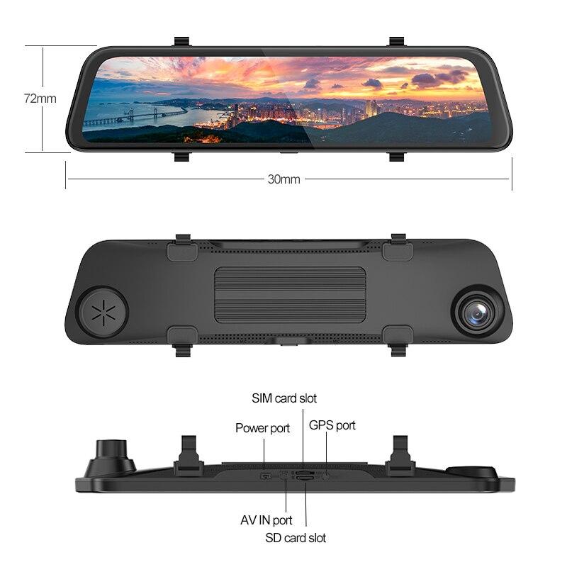 Автомобильный видеорегистратор AKASO Full HD 1080P с двойным объективом 2K Wi Fi с приложением для телефона gps двойной видео цифровой видеорегистратор... - 6