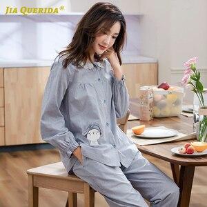 Одежда для сна с принтом в клеточку, повседневная одежда для дома с длинным рукавом и длинными штанами, пижамный комплект