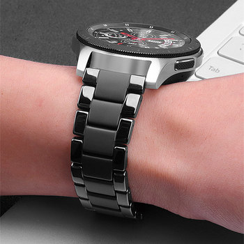 Ceramic Strap Bracelet For Samsung Galaxy Watch 46mm 42mm Actvie 2 44mm 40mm Gear S3 Band 22mm 20mm For Huawei Watch GT 2 2e46mm 20mm 22mm ceramic watch band for samsung galaxy 42mm 46mm active 2 40mm 44mm bracelet gear s3 s2 sport huawei watch gt 2 strap