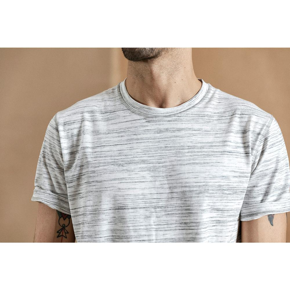 SIMWOOD 2020 summer new Mélange striped t-shirt men o-neck t shirt high quality plus size brand clothing o-neck tops 190432 Men Men's Clothings Men's Tee Men's Tops cb5feb1b7314637725a2e7: Grey