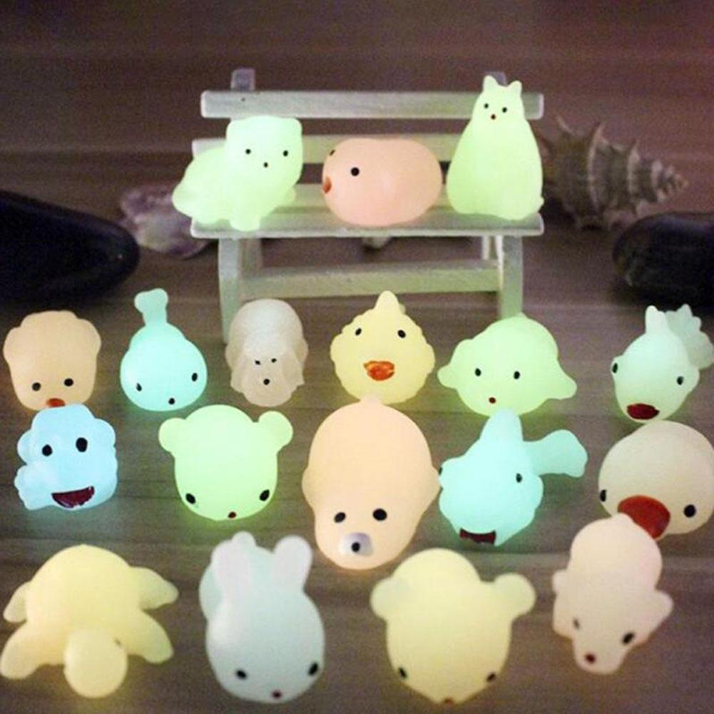Antistress Cute Noctilucence Seal Animal Stress Relieve  Squeeze Toy Adult Kids Gift