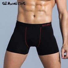남성 복서 반바지 남자 팬티 팬티 남자 속옷 남자 팬티 Calecon Homme Cotton Boxershorts 2020 Brand Sexy