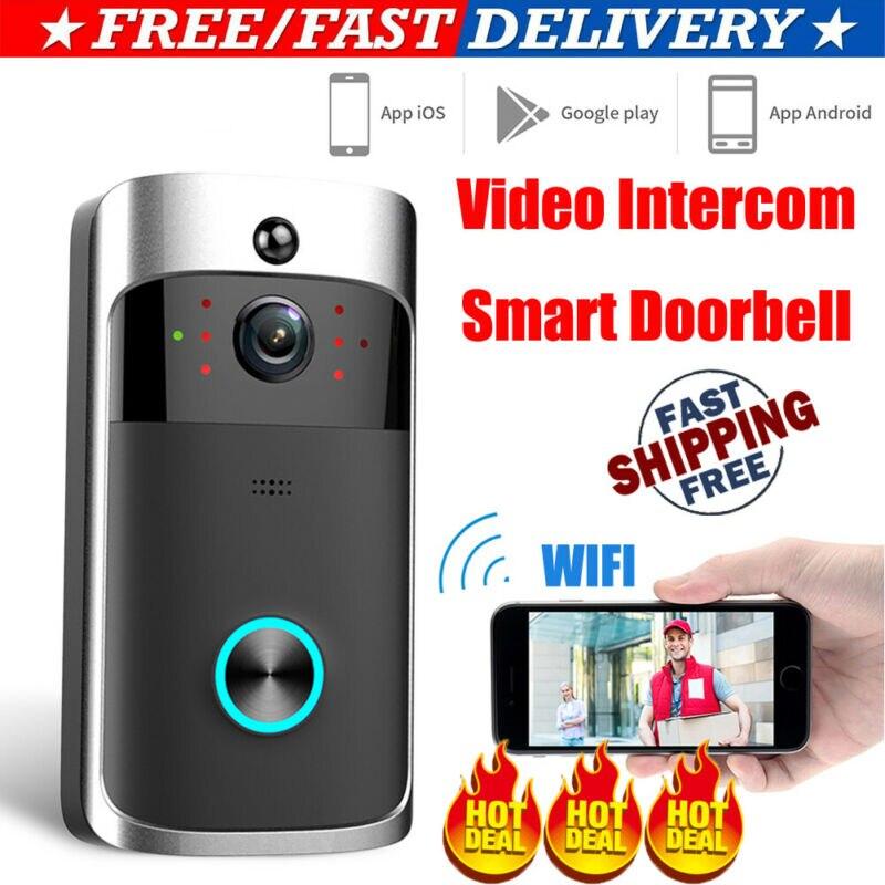 Smart WiFi Doorbell Camera Video Wireless Remote Door Bell CCTV Chime Phone APP
