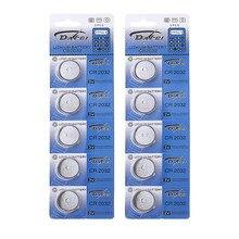 10 baterias da pilha da moeda do botão da bateria de lítio 3 v dos pces cr2032 para relógios calculadoras peças da mudança cr2032 baterias