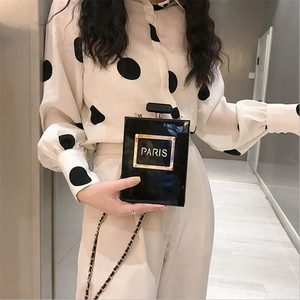 Image 3 - 2 renk akrilik kadınlar Casual siyah şişe çanta cüzdan Paris parti tuvalet düğün debriyaj akşam çanta şeffaf çanta kadın
