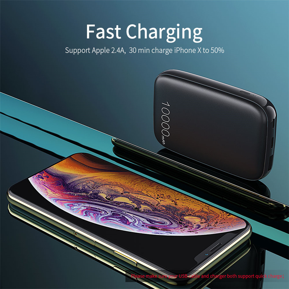 Essager 10000mAh Mini Power Bank 10000 Quick Charge 3.0 Powerbank For iPhone 11 Pro Max USB PD Portable External Battery Charger 8