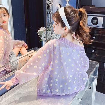 Dziewczyny oddychające ochrona przed słońcem odzież 2020 lato nowy płaszcz duży chłopiec cienkie dzieci zachodniej osłona przeciwwiatrowa 30 tanie i dobre opinie Aini Baby Zhejiang Ask 20317