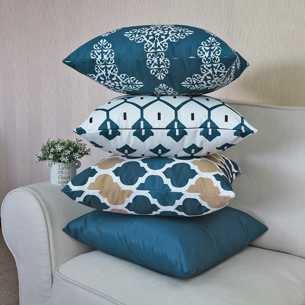 Thicken Waterproof 40x40/45x45/50x50/55x55/60x60/65x65/70x70cm Sofa Cushion Cover Outdoor Throw Pillow Cover Decor Pillow Cases
