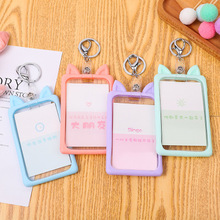 1PC Business Case Cut Silica Gel Work Name Card Holders Business Work Card ID Badge Lanyard Holder Vertical Metal ID Holder Case new transparent id card holders and certificates case for admission quality pvc card badge holder work id cover without lanyard