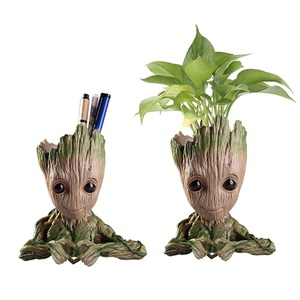 Hot Baby Groot Flower Pot Planter Action Figures Toy Tree Man Cute Model Toy Pen Flower Pots Home Decoration New Year Gifts(China)