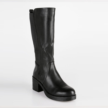Black high-heeled Boots wide