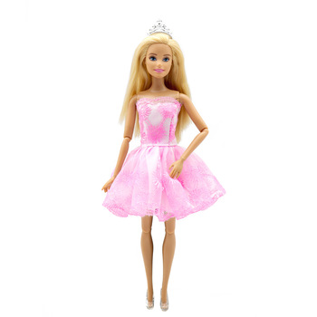Fashion Princess Dress Outfits for Barbie  BJD Doll Clothes Accessories Play House Dressing Up Costume fur coat dress outfit set for barbie 1 6 bjd sd doll clothes accessories play house dressing up costume
