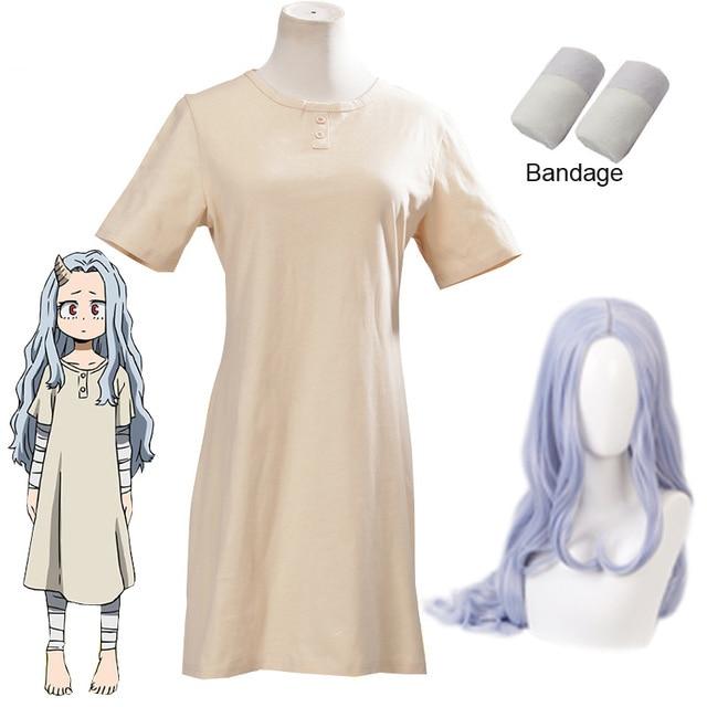 Anime Boku no My Hero Academia Eri Cosplay Wigs Costumes Women Halloween Dress Props Horn  halloween costumes for women