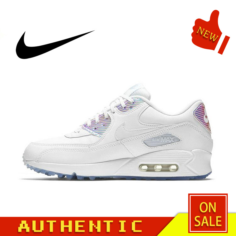 Original Authentic Nike AIR MAX 90 PREMIUM Women's Running Shoes Sports Outdoor Classic Breathable 2019 New 443817-104