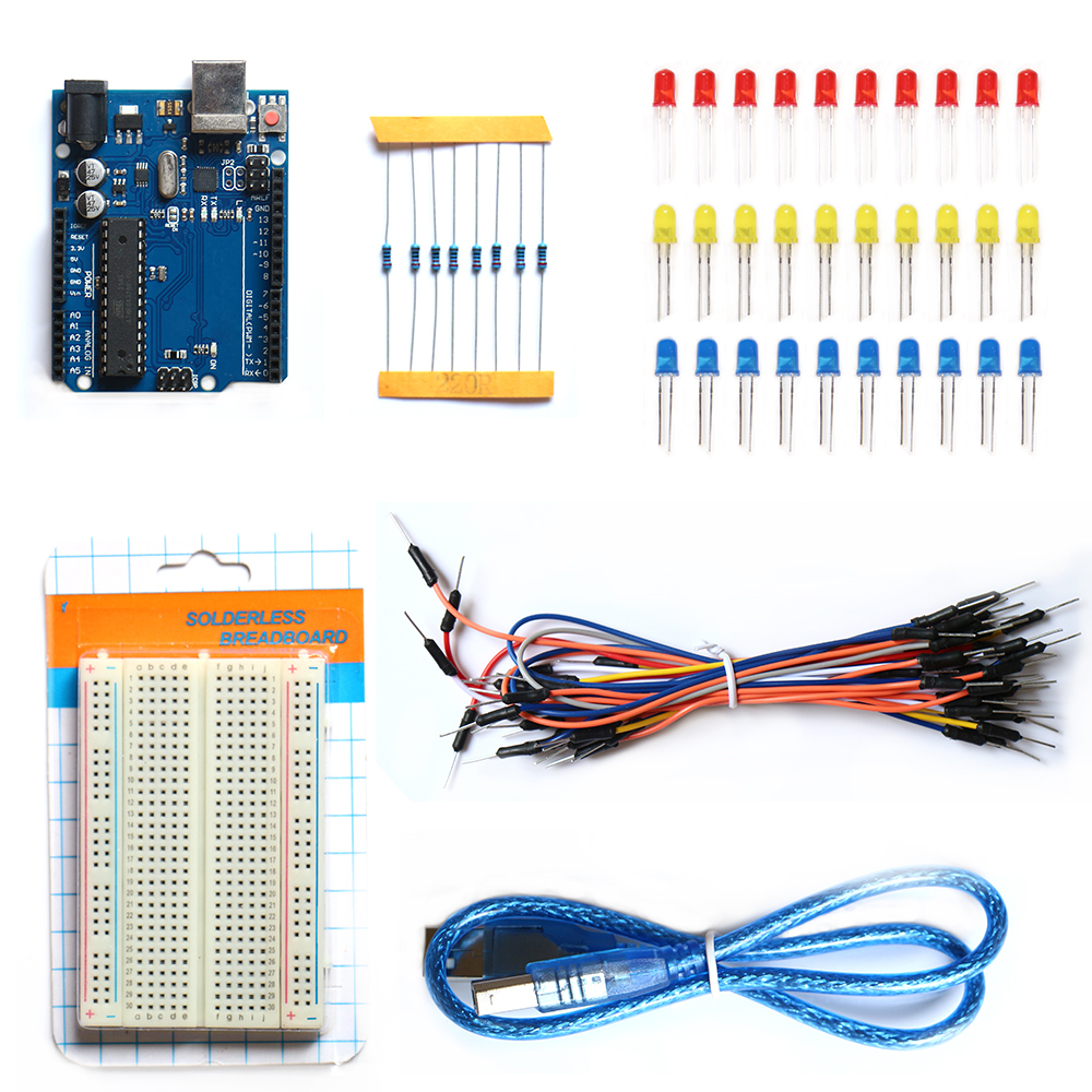 Free Shipping  R3 Development Board Starter Kit Basic Kit For Arduino DIY