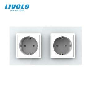 Image 4 - Электрическая розетка Livolo C7C2EU 11/12/13/15, розетка настенная из закаленного стекла, европейский стандарт, 16 А, 4 цвета