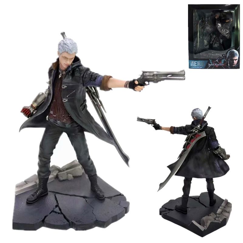 28cm ARTFX J Devil May-Cry NERO DANTE Statue Figure PVC Model Collection Of Toy Gifts