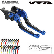 VTR Logo Motorcycle Brake Clutch Lever For Honda VTR1000F / FIRESTORM VTR 1000 F 1998 1999 2000 2001 2002 2003 2004 2005 CNC for suzuki tl1000s tl1000 s with logo cnc adjustable folding expandable motorcycle brake lever 1997 1998 1999 2000 2001