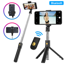 Portable Tripod Selfie Stick Wireless Bluetooth Fodable Phone Table Holder Stand Selfiestick Handsfree