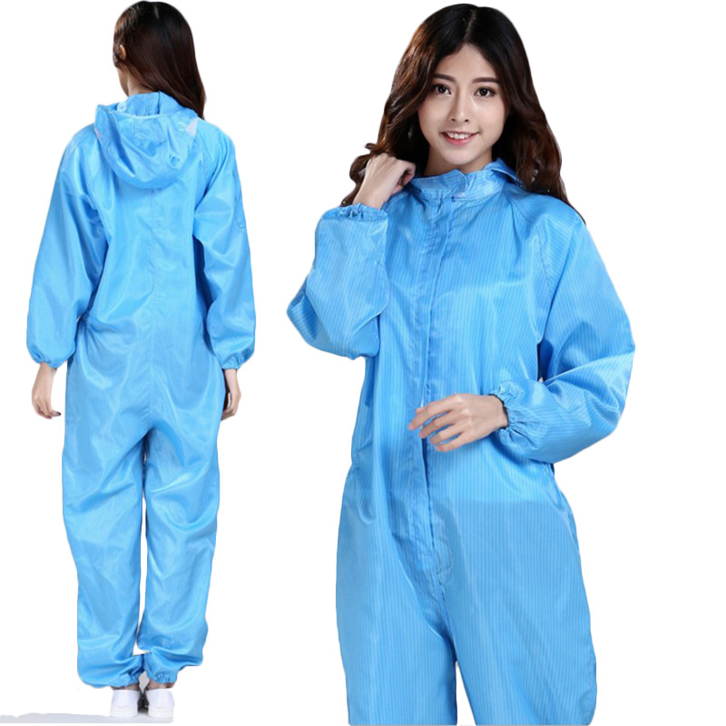 Anti-static Clothing Siamese Dust-free Clothing Hooded Protective Workwear