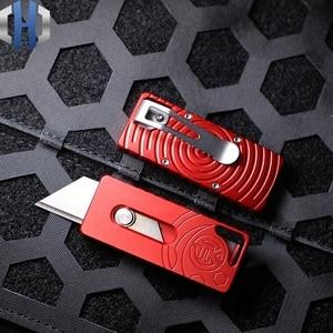 Image 4 - שני צעד נייר חותך חיצוני שדה הישרדות כלי סכין לחתוך פתוח אקספרס EDC כיס סכין