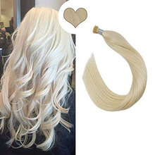 Ugeat I Tip Hair Extensions Human Straight Keratin Fusion Machine Remy 14-24inch 40G/80G Pre Bonded