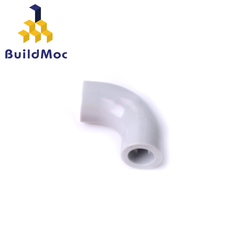 BuildMOC Assembles Particles 71076 TUBE CURVED 1 2/3, METALIZED Building Blocks Parts DIY LOGO Educational Gift Toys