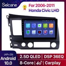 Seicane Android 10.0 DSP QLED octa-core lecteur multimédia GPS Navigation 2Din autoradio pour Honda Civic 2006 2007 2008 2009-2011