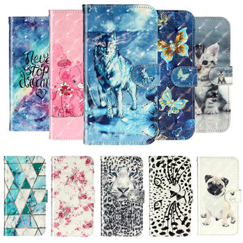 Flip PU Leather Case For Xiaomi Redmi 9 A 9C 9A  Embossed Painted Luxury Wallet Card Cover for Red Mi 9A 9C A9 Magnetic Etui