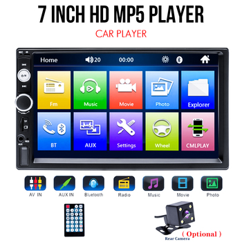 Universal 2 din Car Multimedia Player Autoradio 2din Stereo 7 Touch Screen Video MP5 Player Auto Radio Backup Camera image