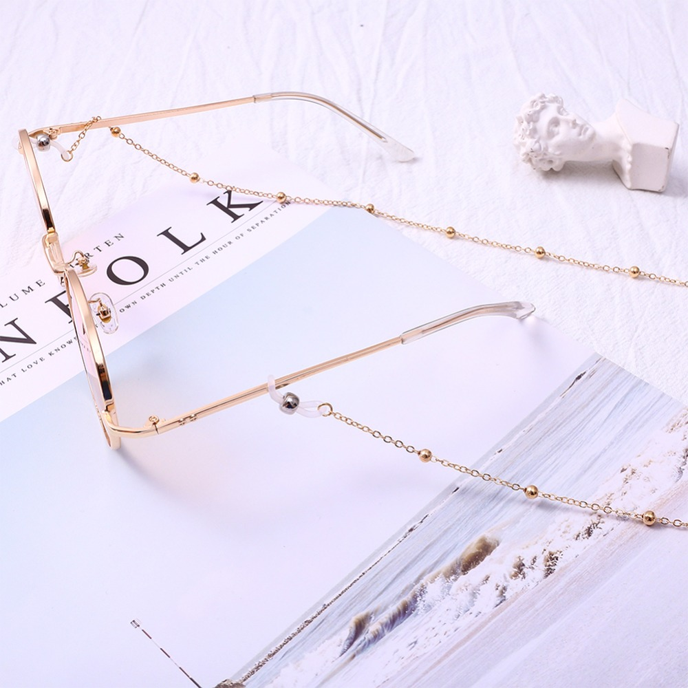 Fashion Womens Gold Silver Eyeglass Chains Sunglasses Reading Beaded Glasses Chain Eyewears Cord Holder neck strap Rope (7)