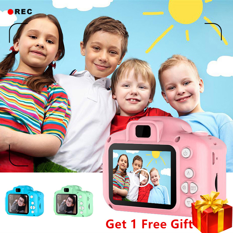KaKBeir Mini Digital Camera Toys For Kids 2 Inch HD Screen Chargable Photography Props Child Birthday Gift Outdoor Game