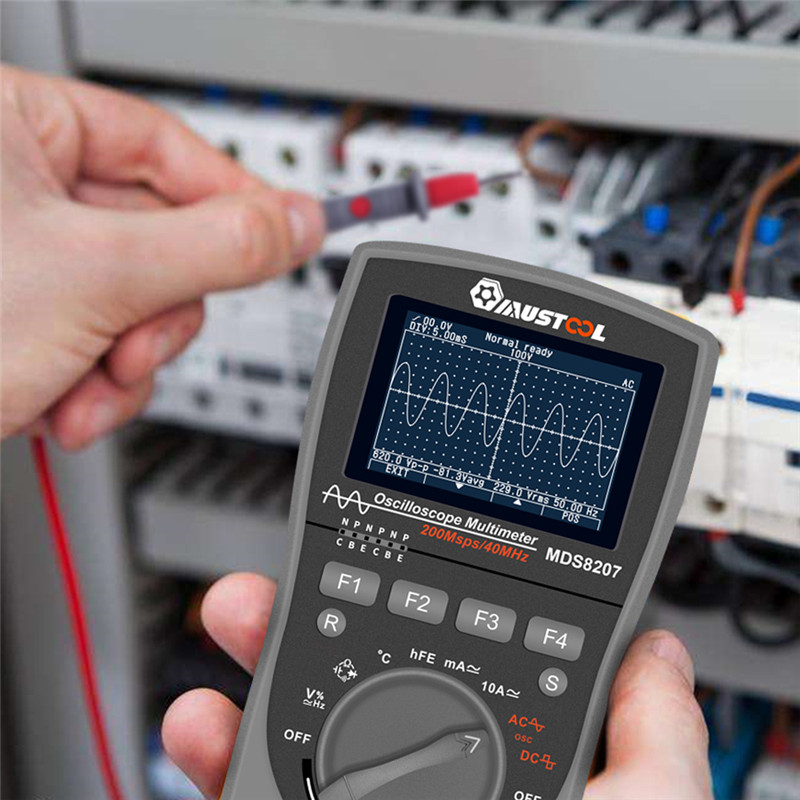 MUSTOOL actualizado MDS8207 inteligente 2 en 1Digital 40MHz 200 Msps/S osciloscopio 6000 cuenta multímetro RMS verdadero con Grap analógico - 6