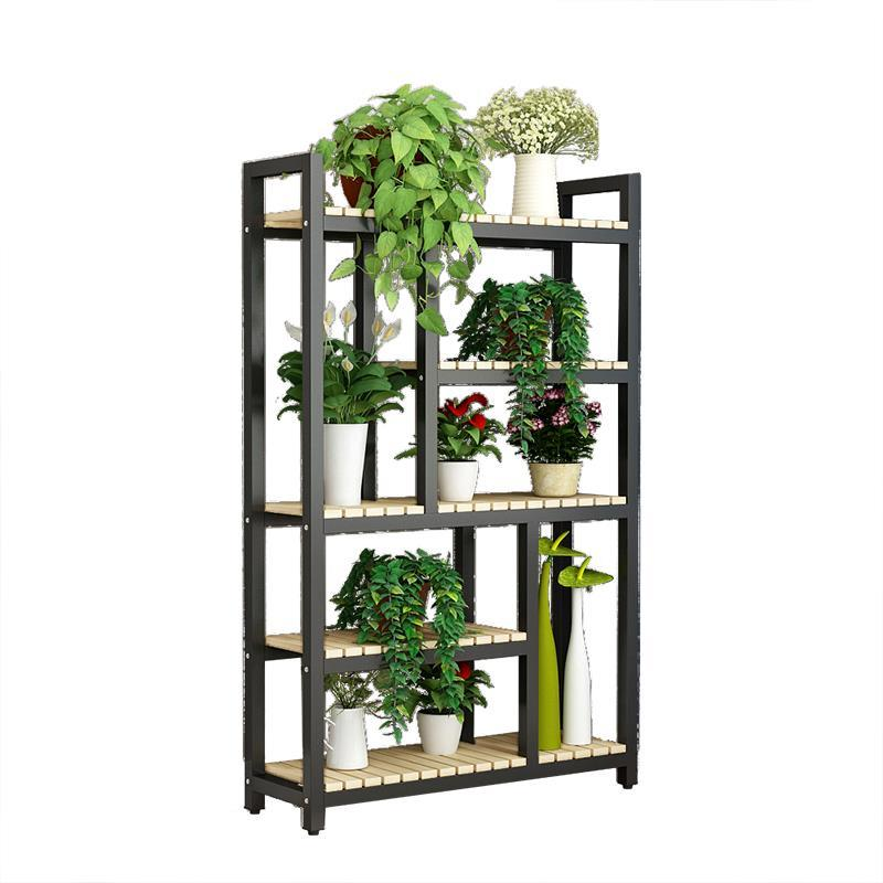 Para Plantas Escalera Decorativa Madera Plantenrekken Balkon Rack Pot Stojak Na Kwiaty Balcony Shelf Dekoration Flower Stand