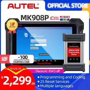 Autel MaxiCOM MK908P автомобильный диагностический сканер MaxiSys J2534 программируемый ключ ECU кодирование PK Maxisys Elite MS906BT IM608 MS908S PRO