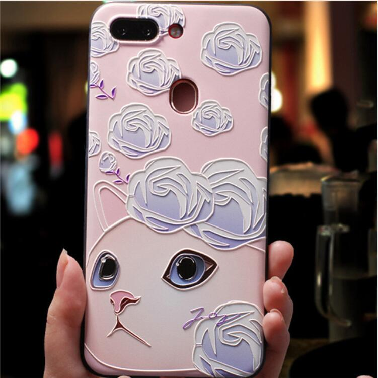 3D Emboss Flowers Case For Samsung Galaxy S20 S20 Plus A51 A71 A50 A70 A30s M30s Case A 50 A 30S S20 Ultra A 70 Silicone Cover