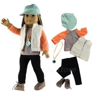 Image 5 - 1 conjunto boneca roupa para 18 polegada boneca americana muitos estilo para a escolha