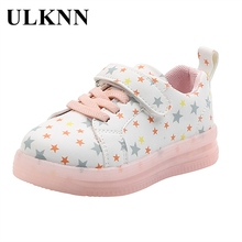Casual Shoes Sneakers Light-Up Girls Kids Spring-Child's Baby ULKNN 1-To-3-Years-Old
