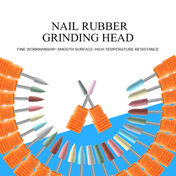 1pc Nail Drill Bits Rubber Grinding Head Sanding Cutter For Manicuring Pedicure Polishing Gel Nail Polish Remove Nail Art Tools