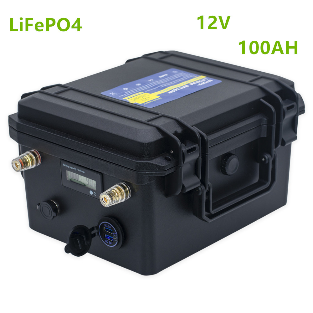 <font><b>12V</b></font> <font><b>lifepo4</b></font> <font><b>100ah</b></font> <font><b>battery</b></font> pack <font><b>lifepo4</b></font> <font><b>12V</b></font> <font><b>100ah</b></font> lithium <font><b>battery</b></font> pack for Boat propeller,Fish detector, fishing lamp, solar MPPT image