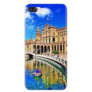Silicone Phone Skin Cover PLAZA DE ESPANA Sevilla Spain For Huawei Honor 6 6A Play 7X V10 V8 7A 7C Mate 7 8 P9 Plus Y3II Y3 2016(China)